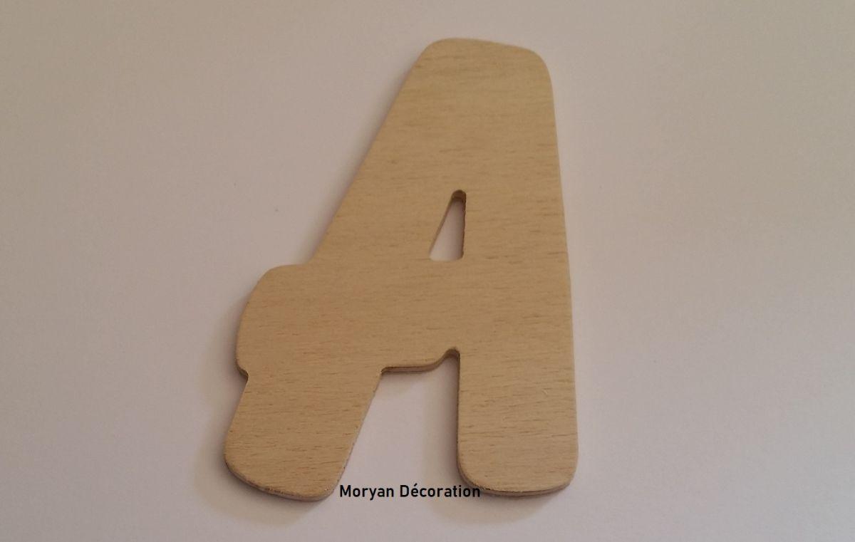 Lettre en bois brut à peindre modèle BALLOON