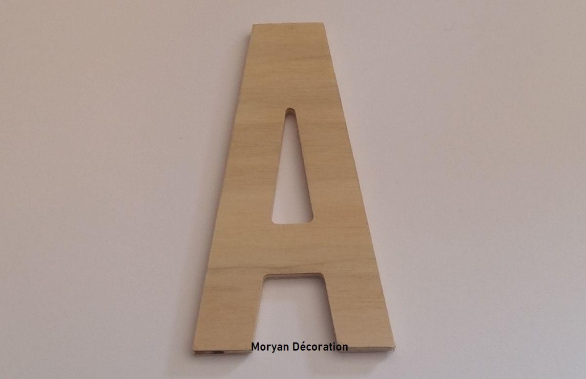 Lettre en bois brut à peindre modèle BATON