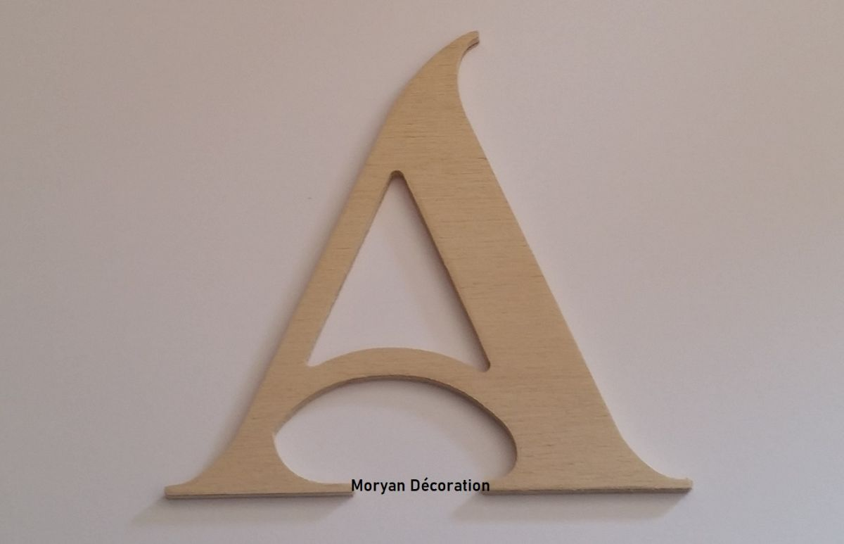 Lettre en bois brut à peindre modèle SHANGRI LA