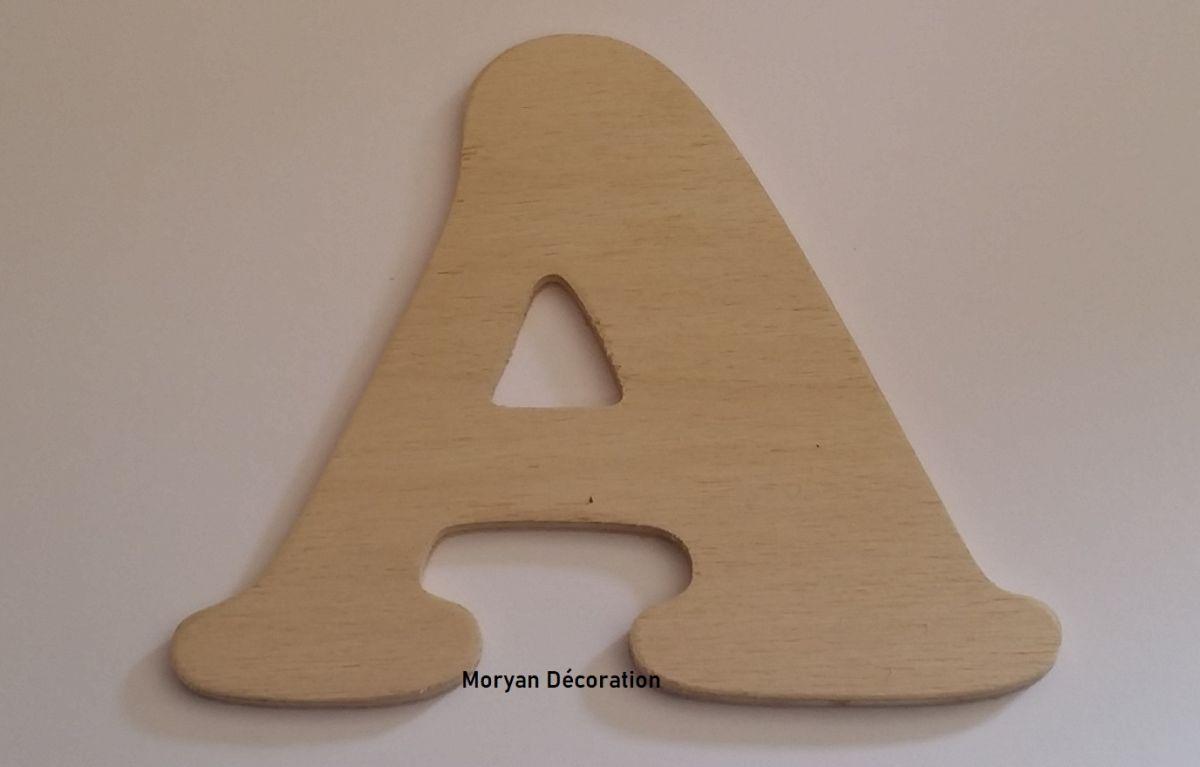 Lettre en bois brut à peindre modèle ZEN