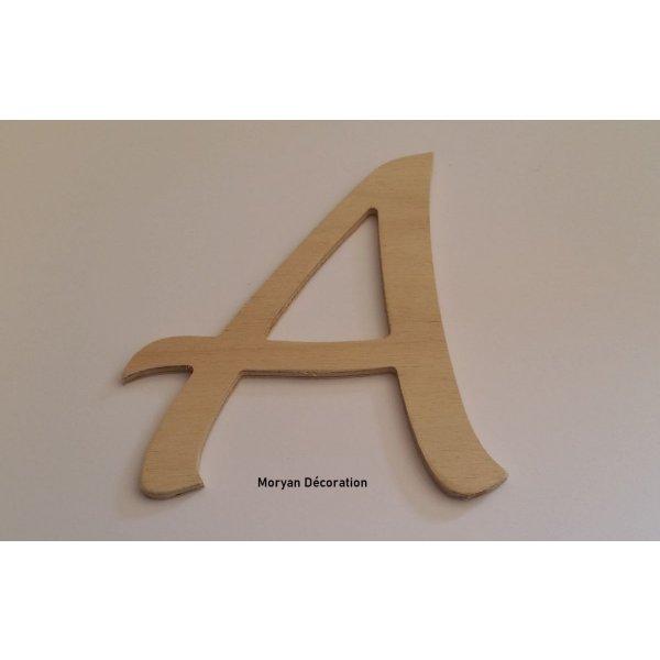 Lettre en bois brut à peindre modèle DULCE