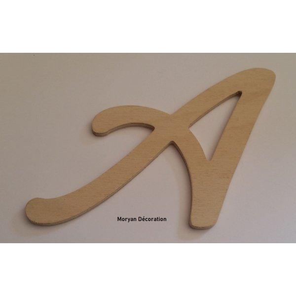 Lettre en bois brut à peindre modèle COOL