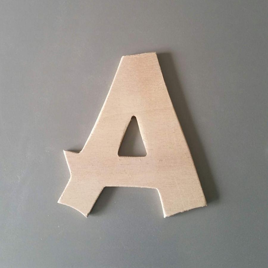 Lettre en bois brut à peindre modèle CANCUN