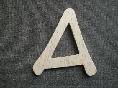 Lettre en bois brut à peindre modèle ANIME ACE