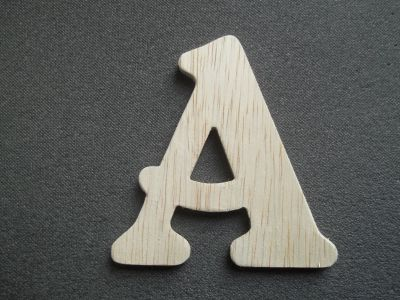 Lettre en bois brut à peindre modèle BELSHAW
