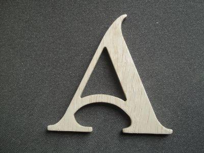 Lettre bois modèle SHANGRI LA