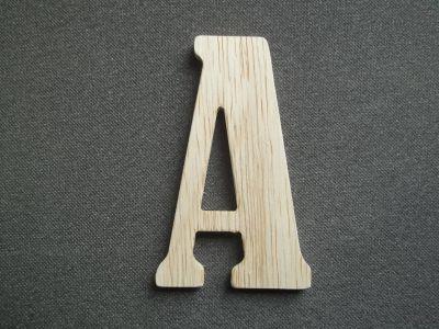 Lettre en bois brut à peindre modèle SLIMLOFT