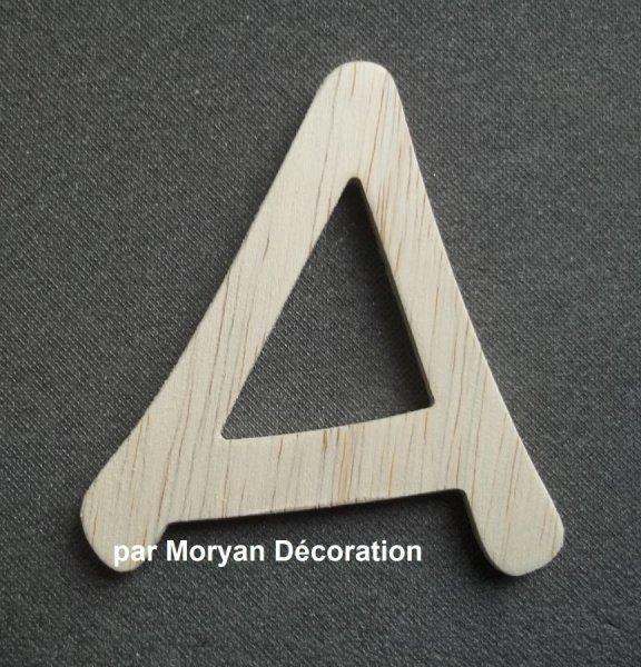 Lettre bois modèle ANIME ACE