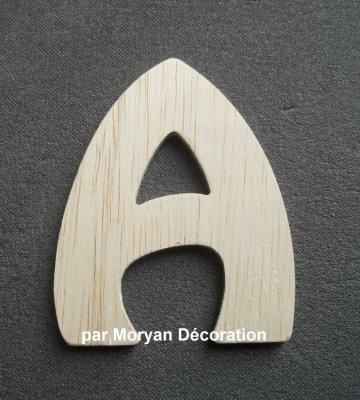 Lettre bois modèle BUBBLE