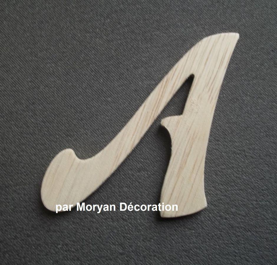 Lettre en bois brut à peindre modèle FUNNY