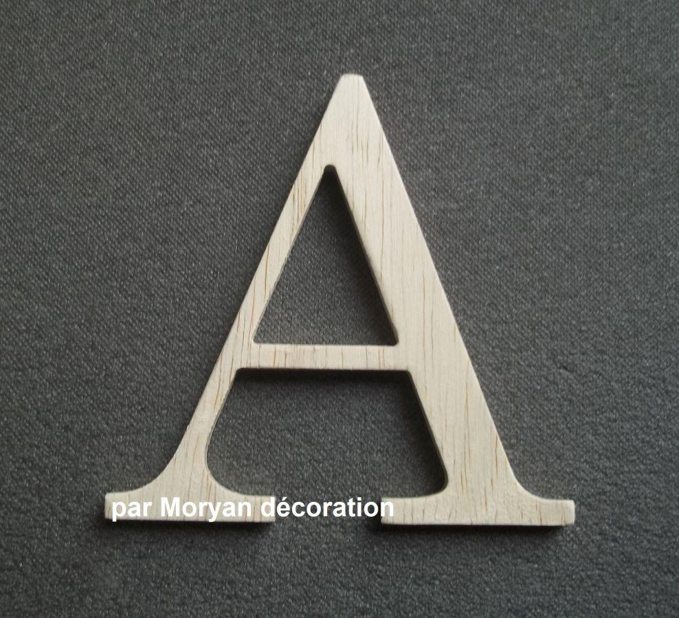 Lettre en bois brut à peindre modèle LOFT