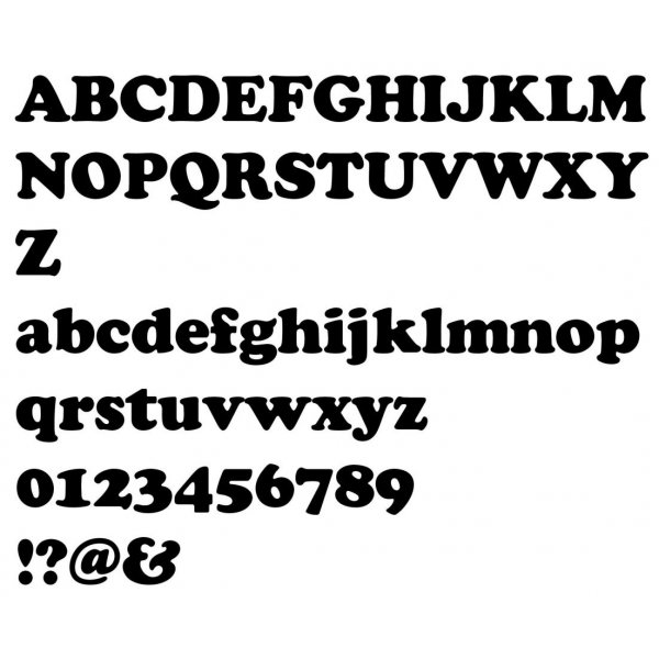 Lettre en bois épicéa COOPER BLACK