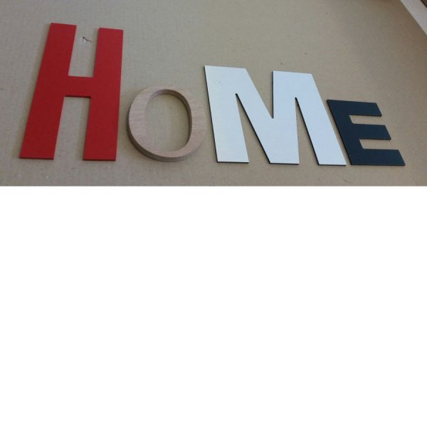 Lettre decorative Home
