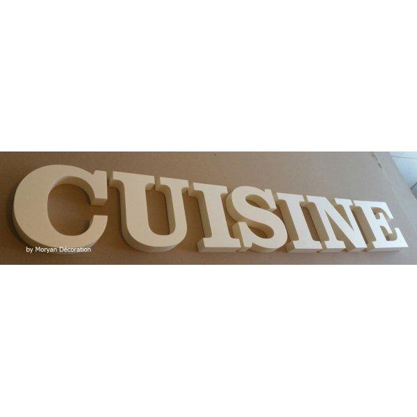 Lettre decorative polystyrene CUISINE