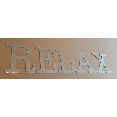 Lettre decorative en zinc RELAX 30 cm