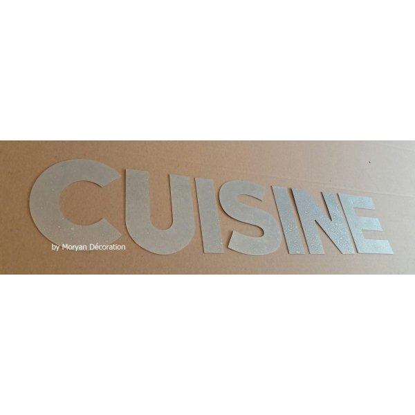 Lettre decorative en zinc CUISINE 20 cm