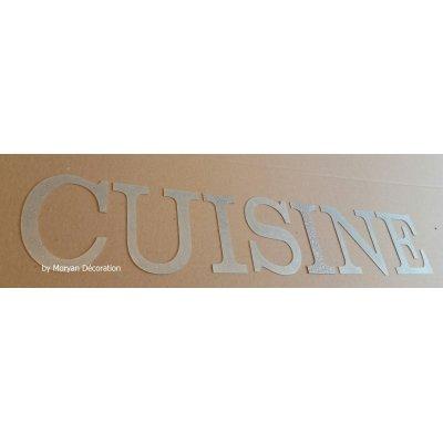 Lettre decorative en zinc CUISINE 30 cm