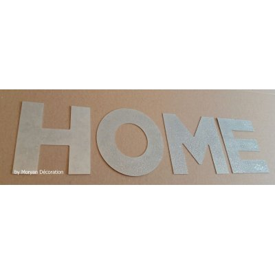 Lettre decorative en zinc HOME 20 cm