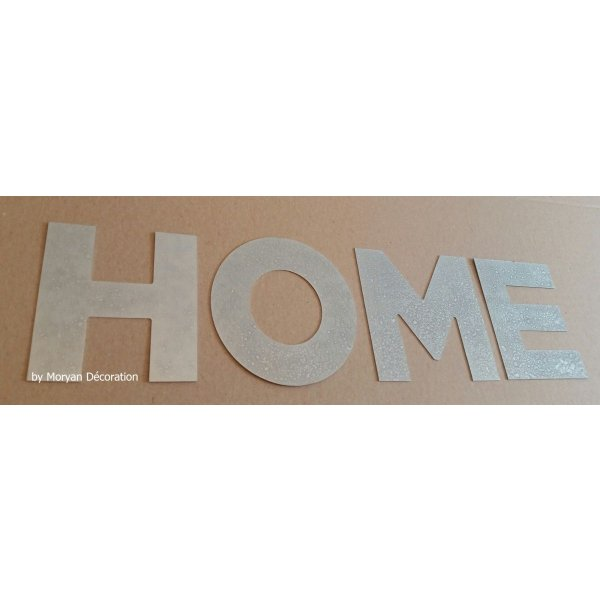 Lettre decorative en zinc HOME 30 cm