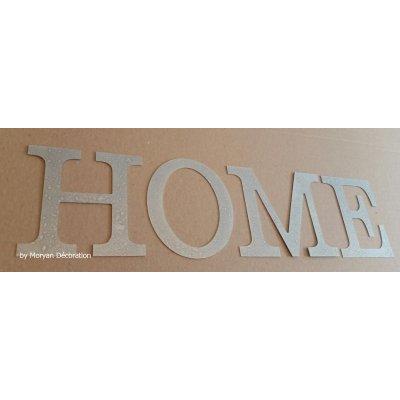 Lettre decorative en zinc HOME 30 cm