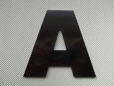 Lettre enseigne métal alu ARIAL BLACK