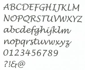 Lettre  ALU LUCIDA HANDWRITING