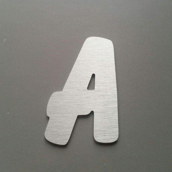 Lettre metal brossé BALLOON