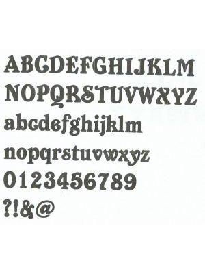 Lettre enseigne zinc BELSHAW