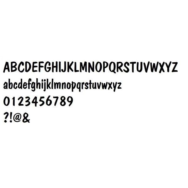 Lettre en MDF brut à peindre modèle DOM CAUAL