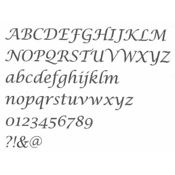 Lettre en MDF brut à peindre modèle LUCIDA CALLIGRAPHY