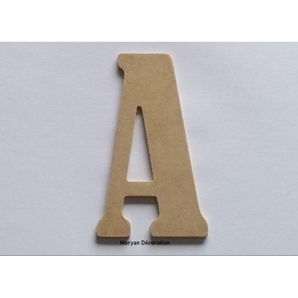 Lettre en MDF brut à peindre modèle BERNARD CONDENSED