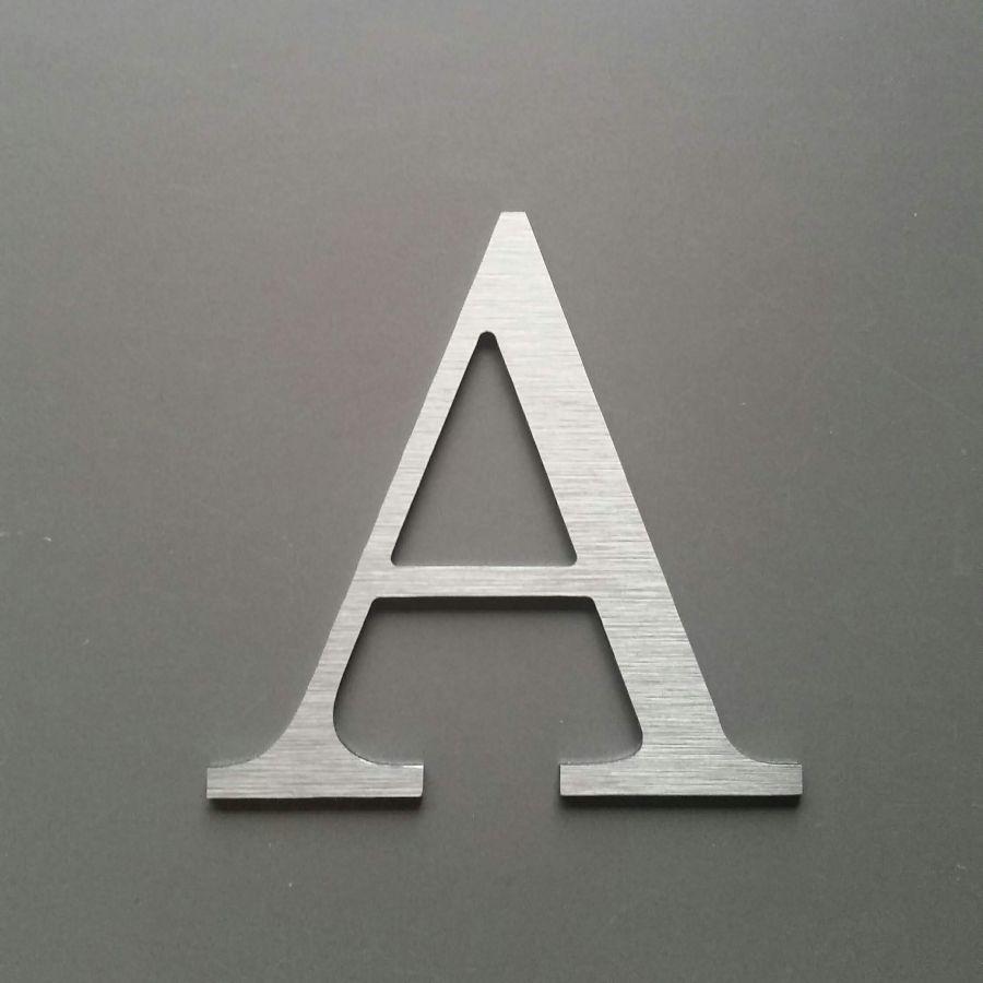 Lettre metal brossé CENTURY