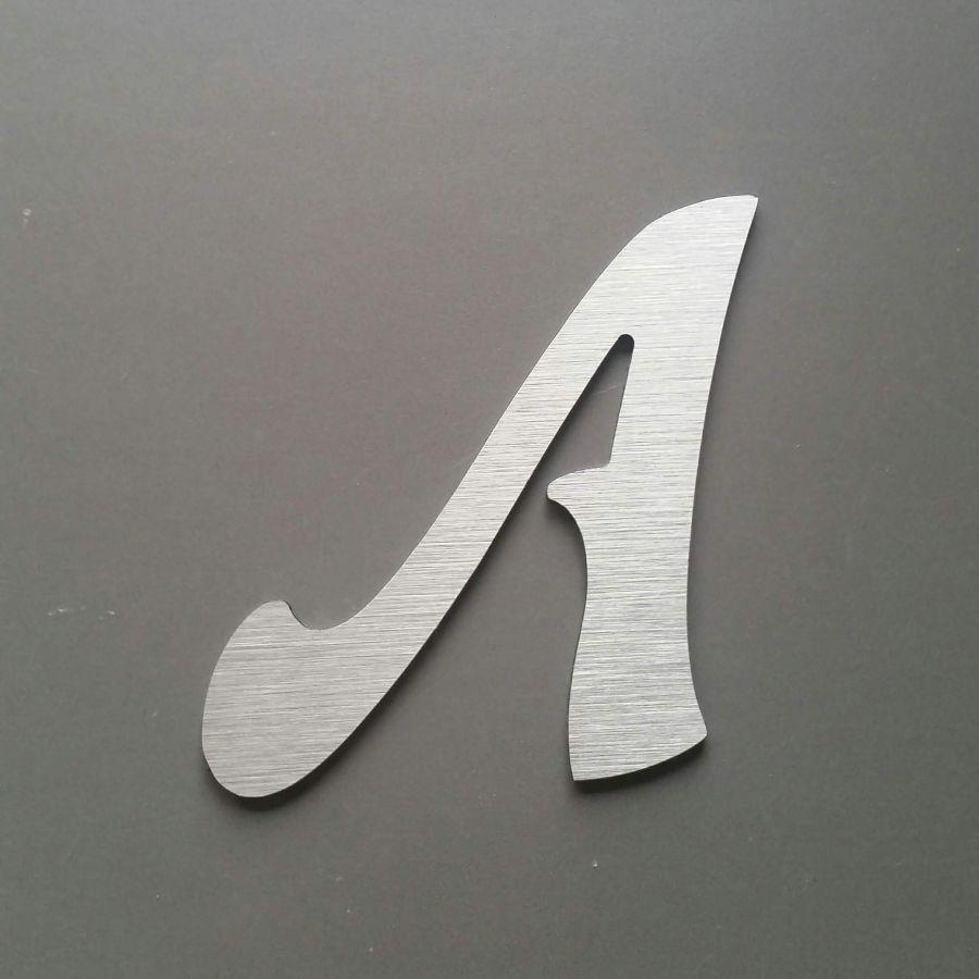 Lettre metal brossé FELIPE