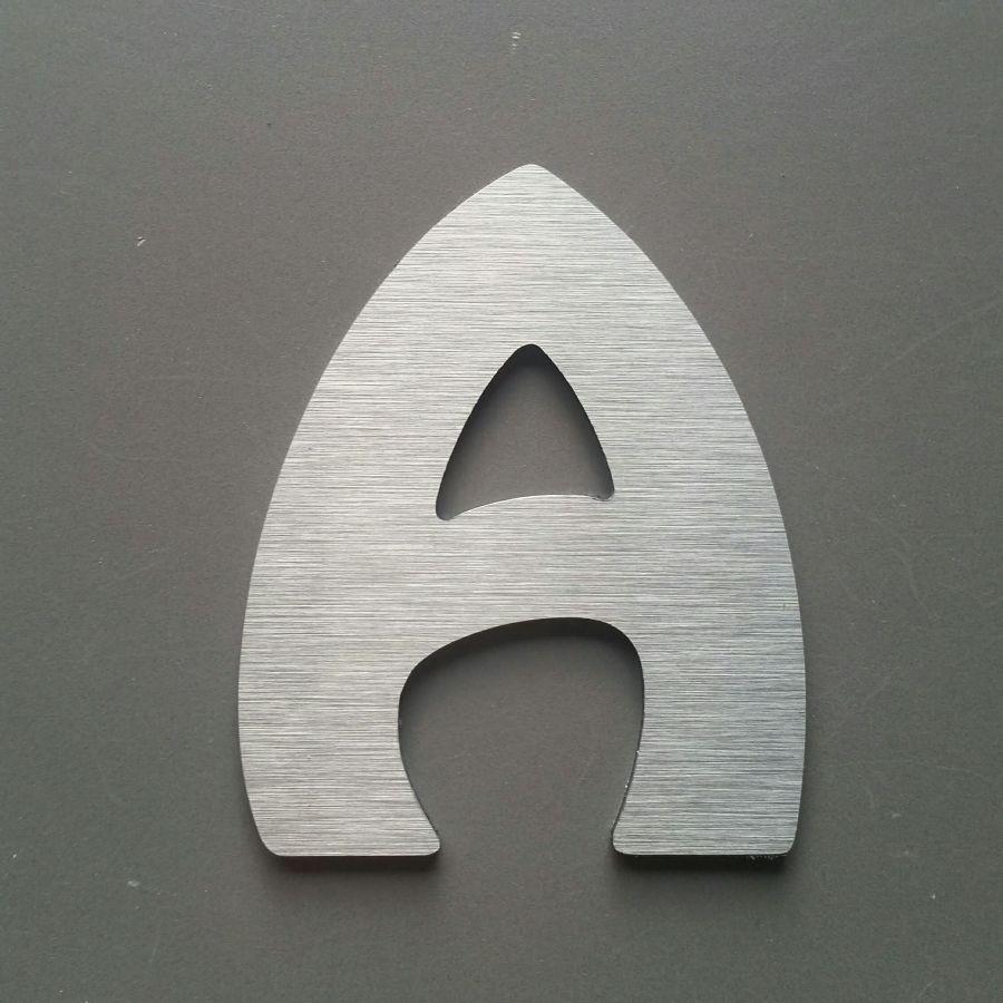 Lettre metal brossé HARLEQUIN