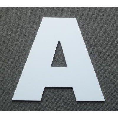 Lettre plastique PVC ARIAL BLACK