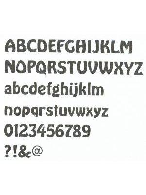 Lettre plastique PVC BUBBLE