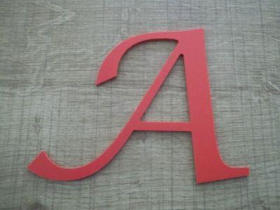 Lettre plastique PVC couleur LUCIDA CALLIGRAPHY
