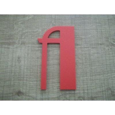 Lettre plastique PVC couleur BETTY NOIR