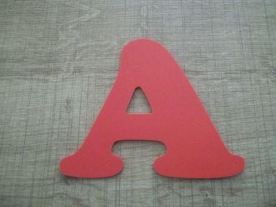 Lettre plastique PVC couleur COOPER BLACK