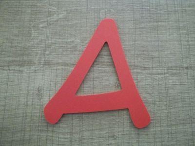 Lettre plastique PVC couleur ANIME