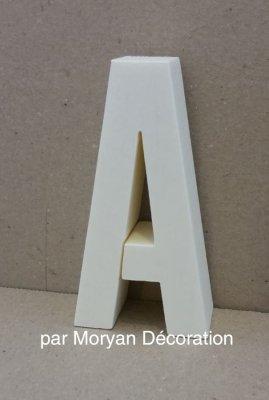 Lettre en polystyrène ALTERNATE GOTHIC