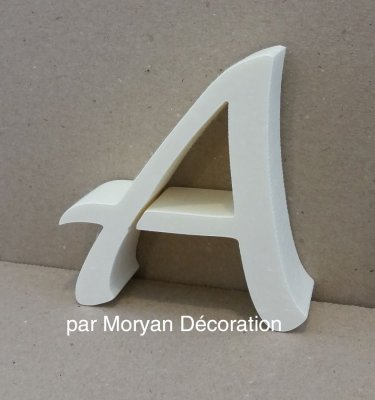 Lettre en polystyrène LUCIDA HANDWWRITING