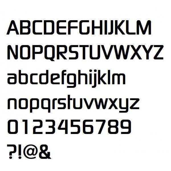 Lettre en relief 3D en zinc DIGITAL SANS