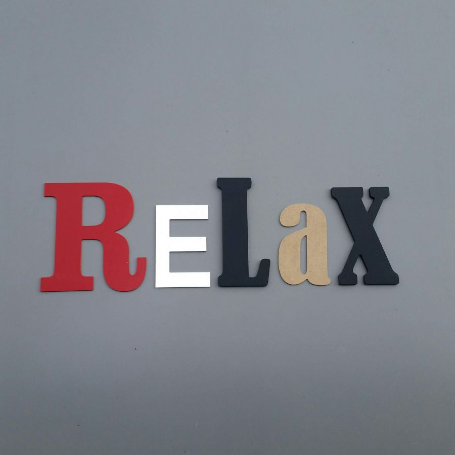 Lettres decoratives murales RELAX