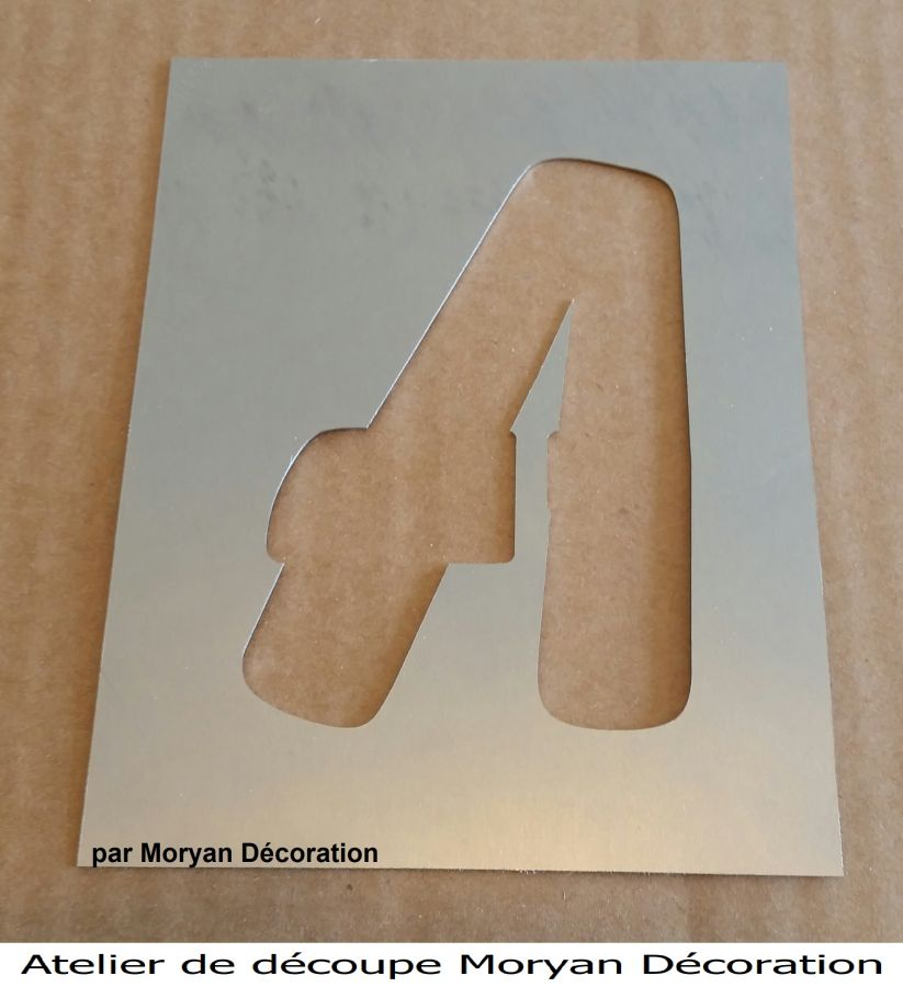 Pochoir lettre métal zinc modèle BALLOON