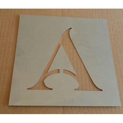 Pochoir lettre métal zinc modèle SHANGRI LA