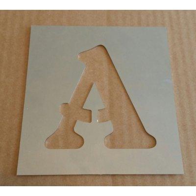 Pochoir lettre métal zinc modèle BELSHAW