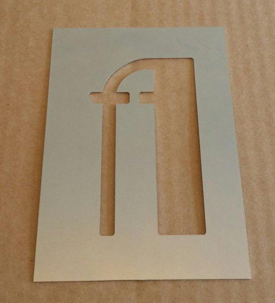 Pochoir lettre métal zinc modèle BETTY NOIR