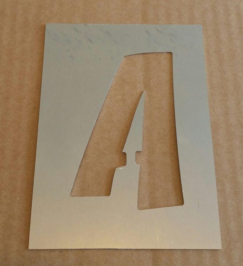 Pochoir lettre métal zinc modèle ZOINKS