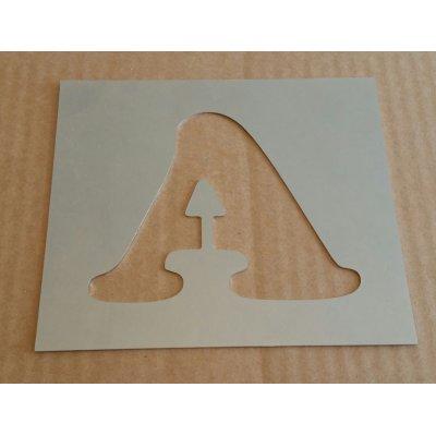 Pochoir lettre métal zinc modèle COOPER BLACK